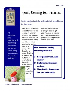 Spring clean white paper