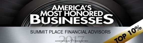 Summit Place Financial Advisors Honored by American Registry